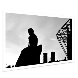 Brother Walfrid Silhouette Photo Print (BW)