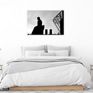 Brother Walfrid Silhouette BW Canvas (Medium-Large)
