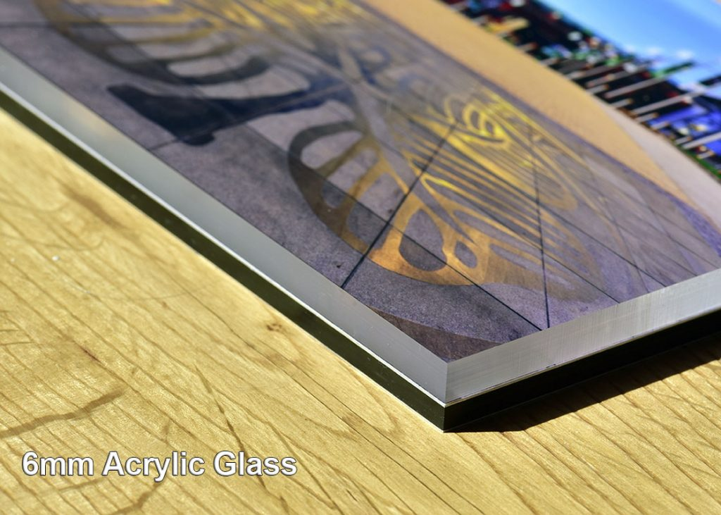Acrylic glass has cool, stylish finish