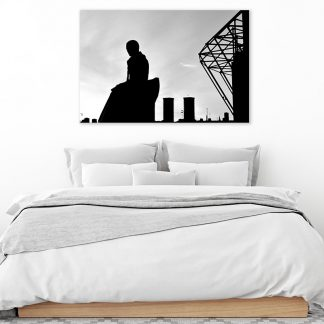 Brother Walfrid Silhouette B&W - Canvas