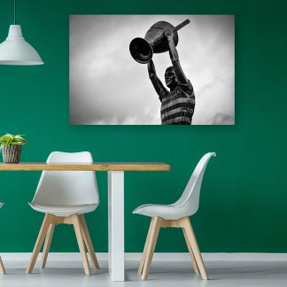 Billy McNeill Statue BW - Canvas