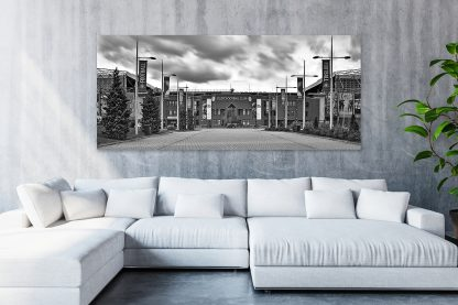 Celtic Park Panorama (B&W) - Canvas